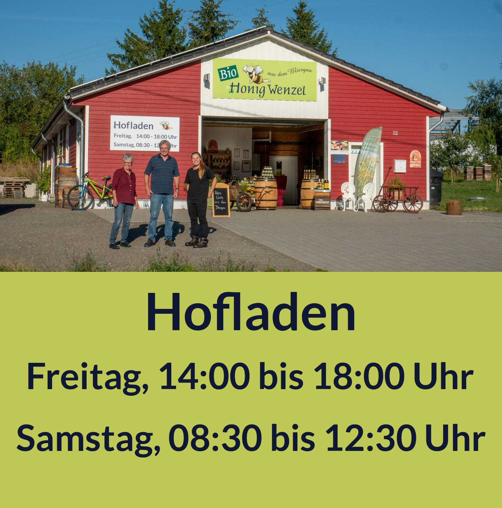 Öffnungszeiten Hofladen