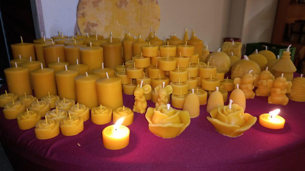Kerzen aus reinem Bienenwachs
